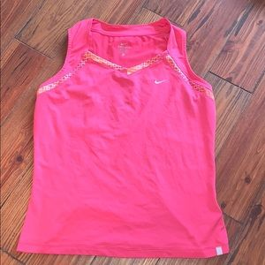 Nike pink athletic tank top XL